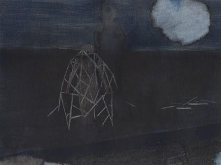 De kunst van crashen Watercolours, ink and pencil on paper, 24x18 cm, 2014
