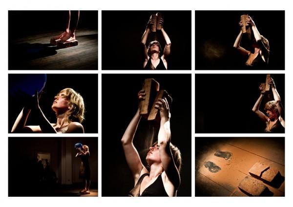 Sunburned Performance, duration 150 minutes, PAS#20 by PAS - Performance Art Studies, Grimmuseum / Berlin, 2011 photo by Matthias Pick and Monika Sobczak