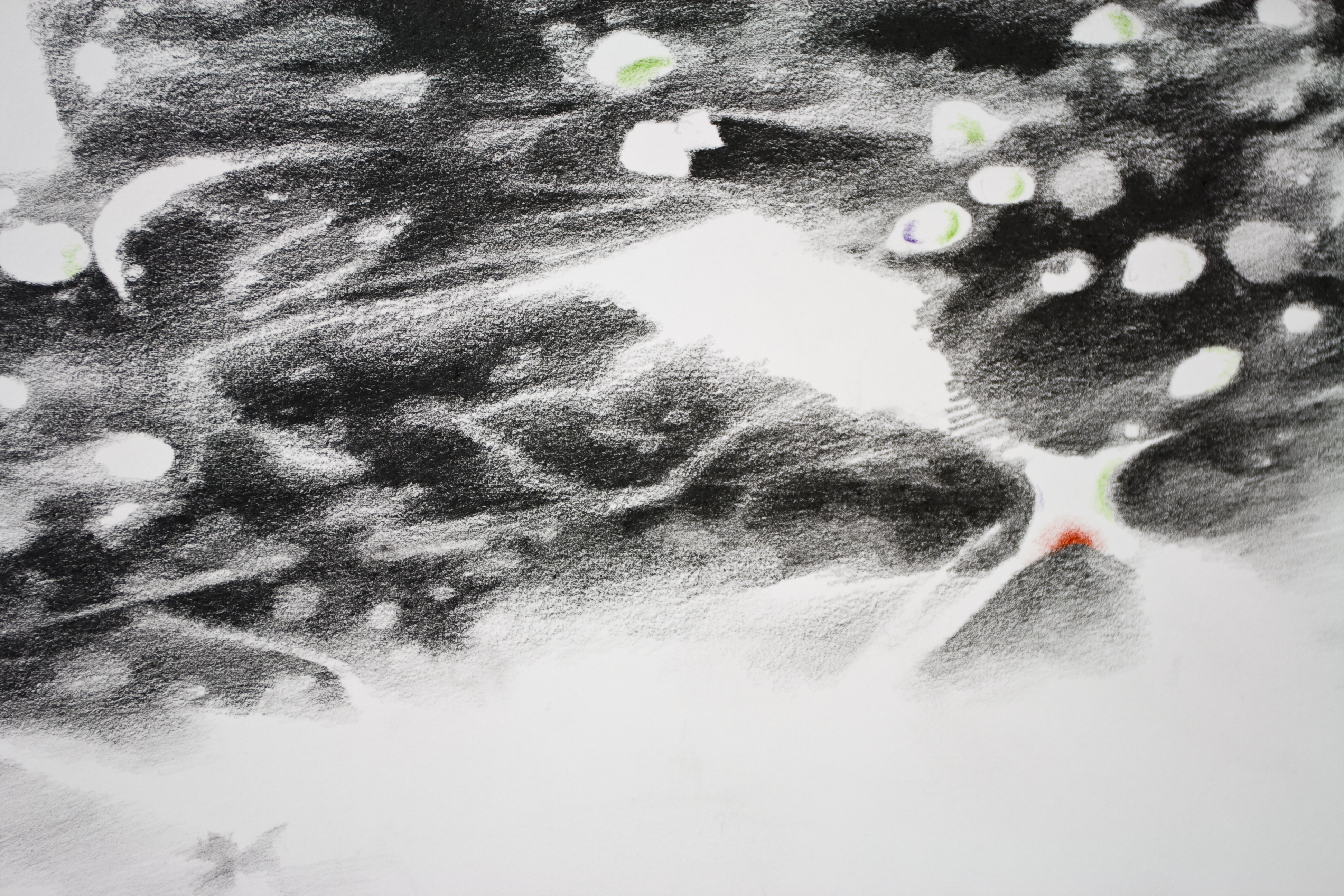 Surrender to the light II (detail) pencil drawing on paper, 140x80 cm, 2015