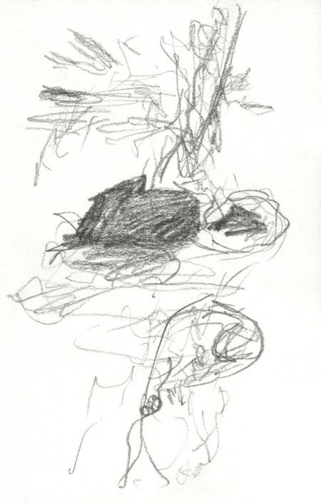 Drawalk Pencil drawing on paper, 9,5 x 14 cm, 2014