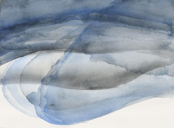 Gelaagde rivier Watercolours on papers 31x23cm, 2015