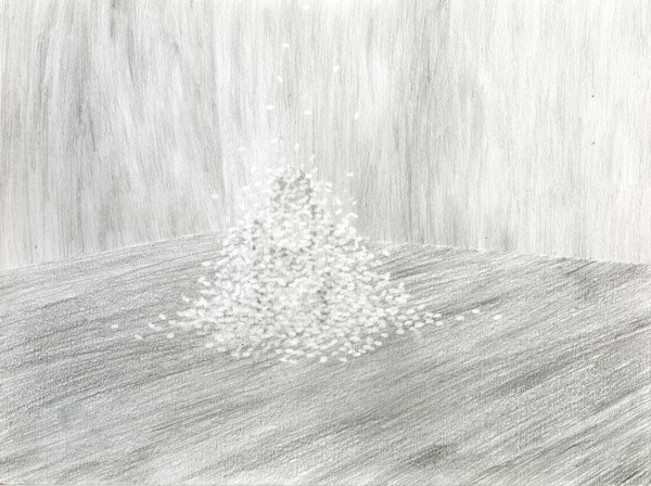 Pure, white and deadly Pencil drawing on paper, 40x30cm, 2013