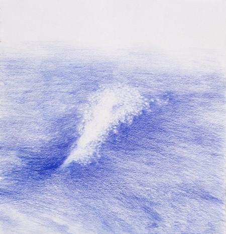 Light on the waves Drawing, pencil on paper, 19 x 19 cm, Cill Rialaig, 2015