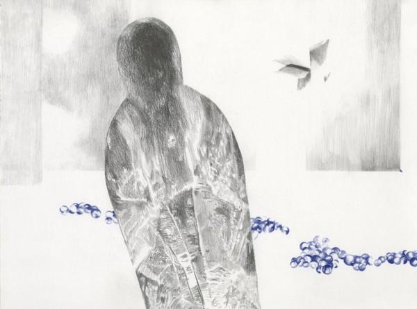 Zonder titel pencil drawing on paper, 40 x30 cm, 2016