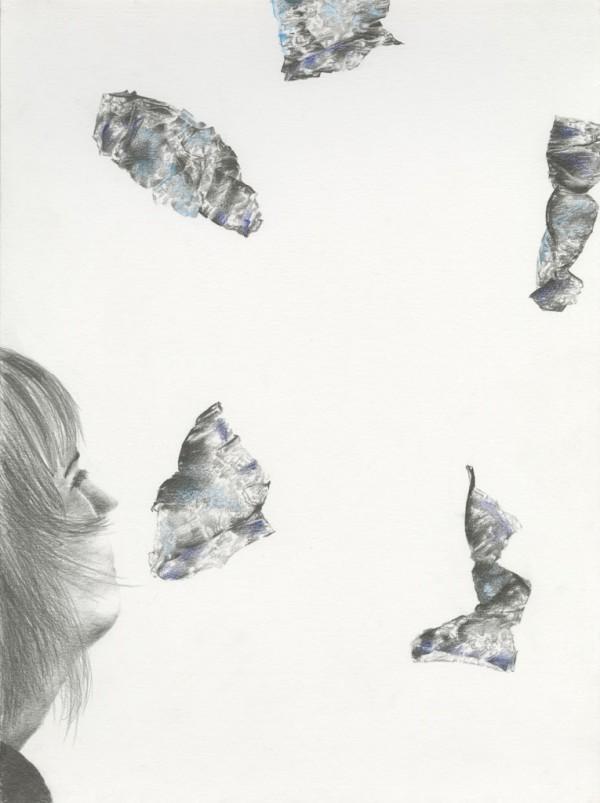 Pneuma pencil drawing on paper, 30x40 cm, 2016