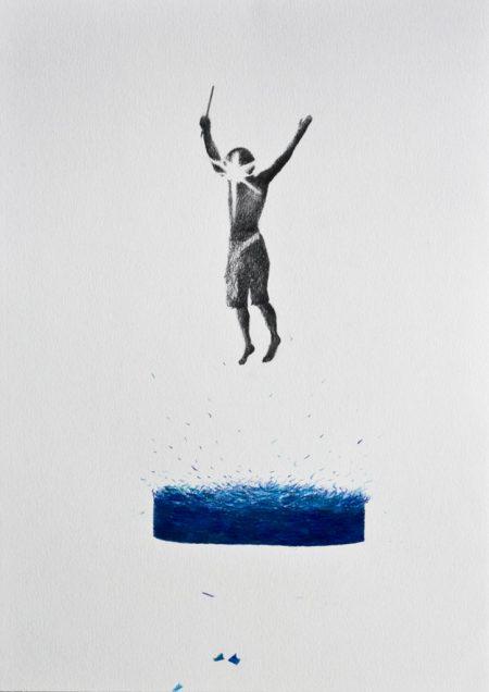 Flash splash pencil drawing, 21x30cm, 2016