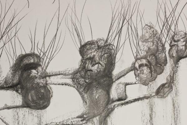 Detail, Graphite pencil drawing on paper, ±600 x 150 cm, 2017, photo by Harold van de Kamp