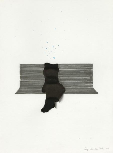 Mijmeren Mixed media, 30x40cm, 2013