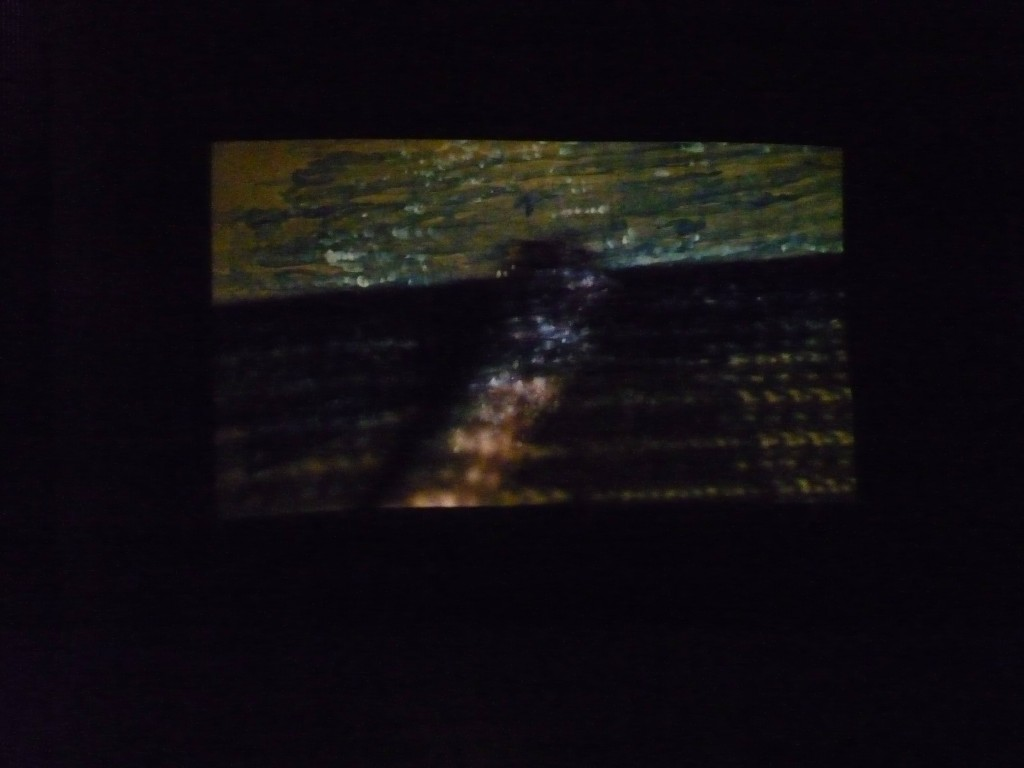 Sea of shadows Stills from a video performance with watercolour on paper projected on a watercolour on paper, 2014