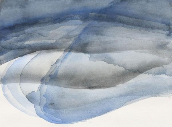 Gelaagde rivier Watercolours on papers 31x23cm, 2015