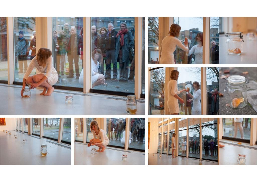 No heart feelings Duo performance with Jolijn van de Wolf, duration: 5 minutes, De Zonnehof / Amersfoort Photo by Bram Lamers