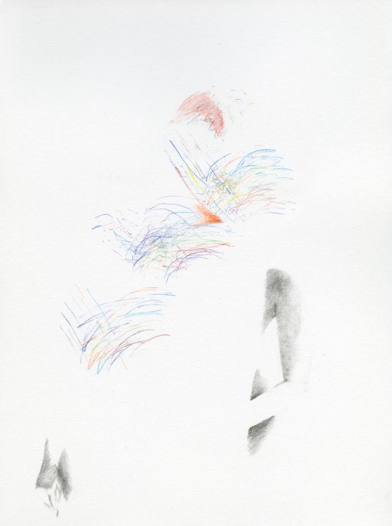 Oxytocine flies Pencil drawing on paper, 30x40cm, 2013