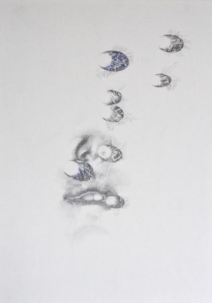 Breathe in II pencil drawing on paper, 21x30cm, 2016
